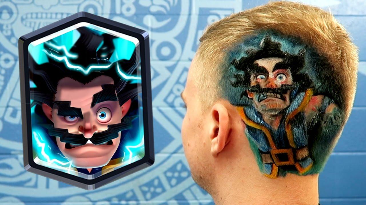 clash royale electro wizard haircut