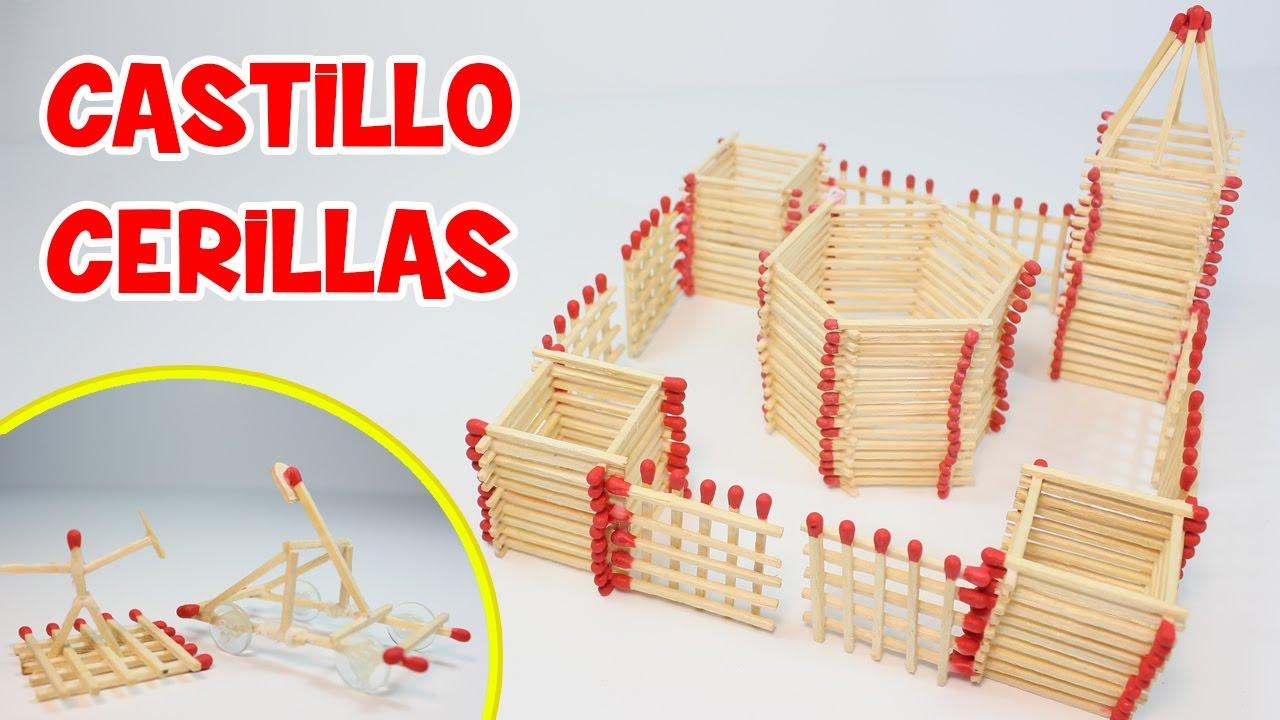 C mo hacer un castillo de cerillas manualidades f ciles - Como hacer manualidades faciles ...