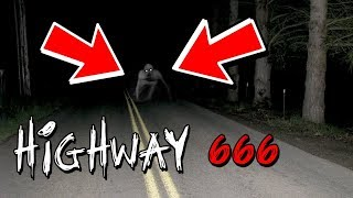DRIVING DOWN HIGHWAY 666 AT NIGHT (HAUNTED ROAD)