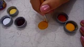 Série pintando flores Eliana Rolim – Parte 1 miolo da margarida