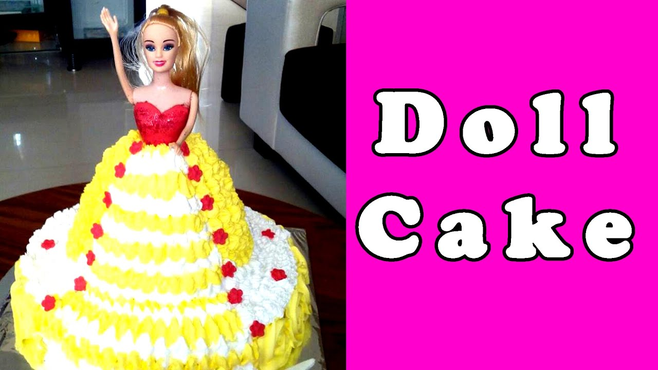Easy Doll Cake Images : BARBIE DOLL CAKE - Making & Decorating, Recipe without ...