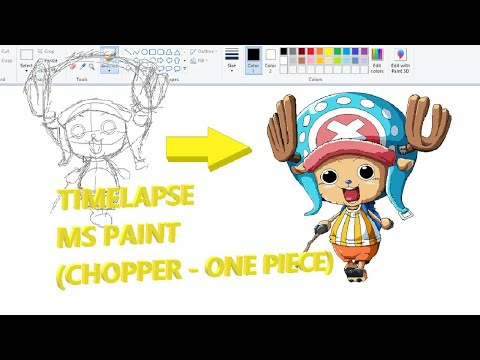 ms-paint-timelapse---chopper-of-one-piece