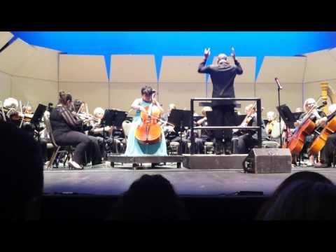 Elgar cello concerto 4th mov. Sarah Hughes with Fall River symphony orchestra May 8, 2017