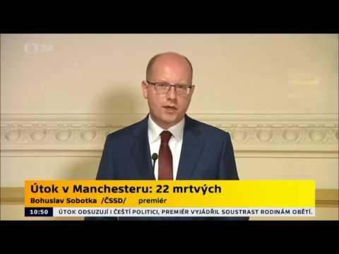 Premiér Bohuslav Sobotka k útoku v Manchesteru