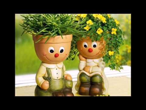 Человечки из цветочных горшков своими руками фото