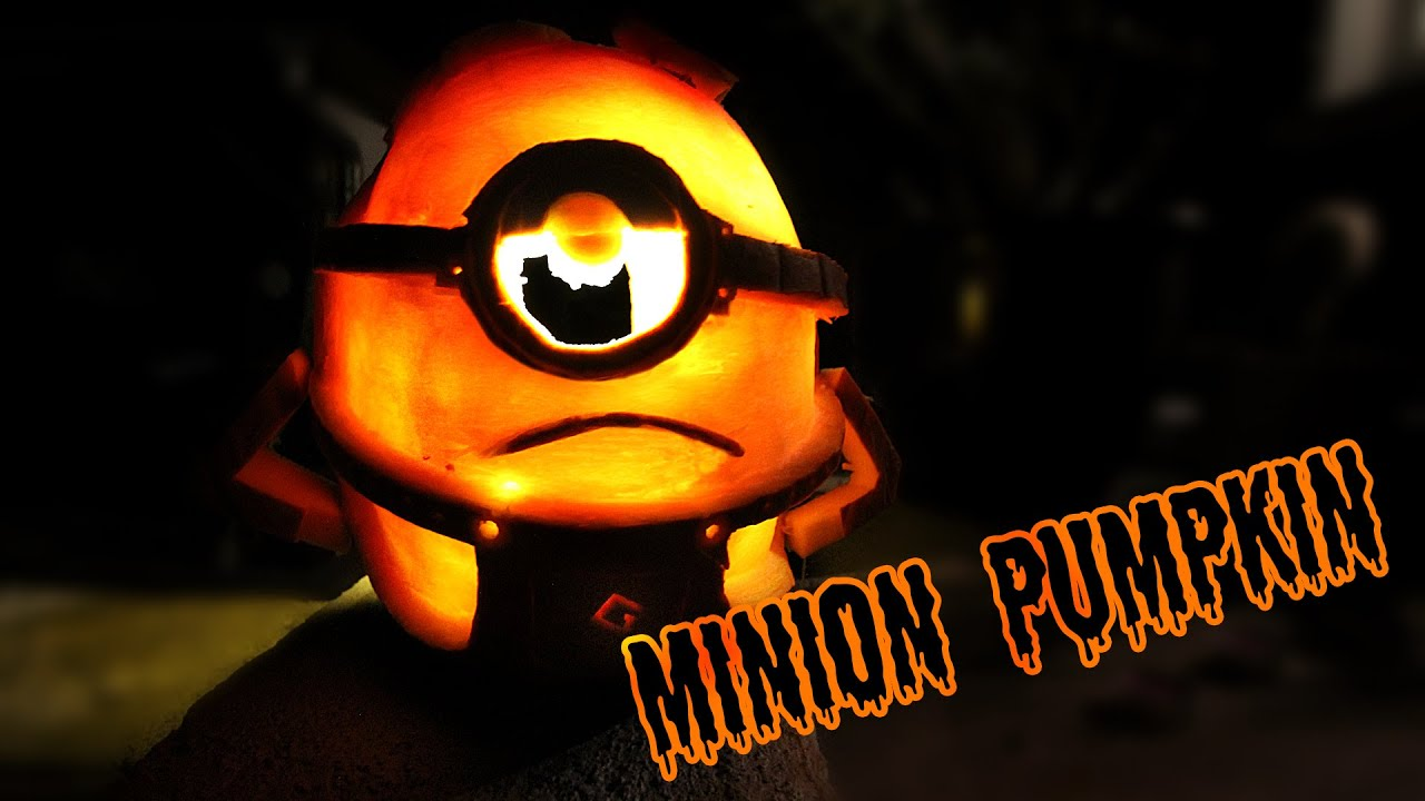 minion halloween kÜrbis tutorial - youtube