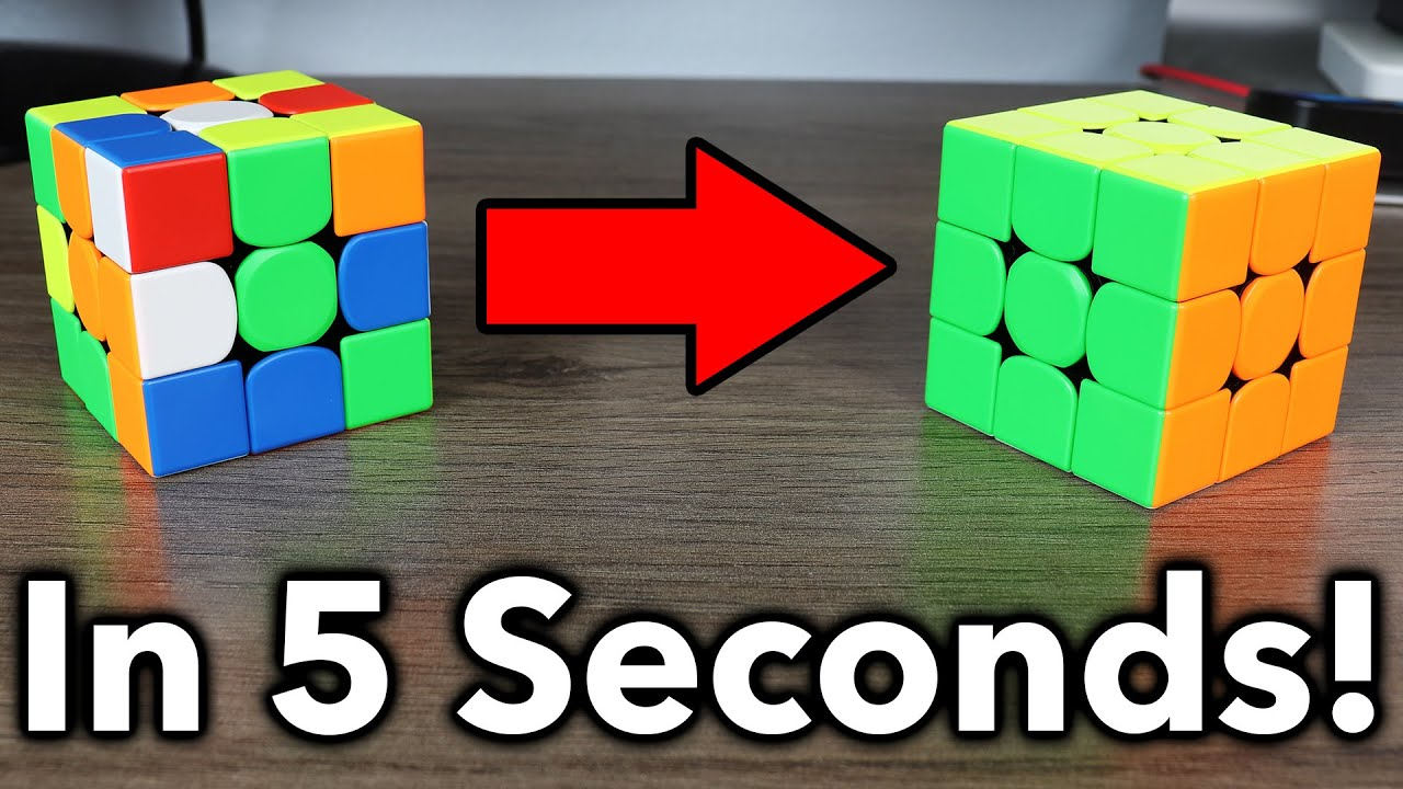 How to ACTUALLY Solve A Rubik's Cube In 5 Seconds