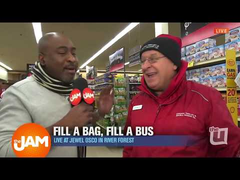 George Blaise at Fill-A-Bag, Fill-A-Bus at the Jewel-Osco in River North!