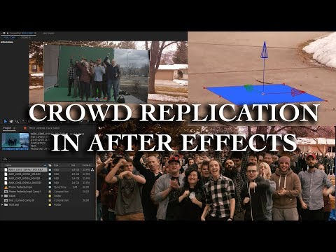After Effects 2018 -- Crowd Replication with Green Screen