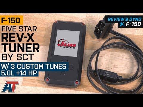 5 Star Rev-X Tuner by SCT w/ 3 Custom Tunes (15-19 5 0L F-150)
