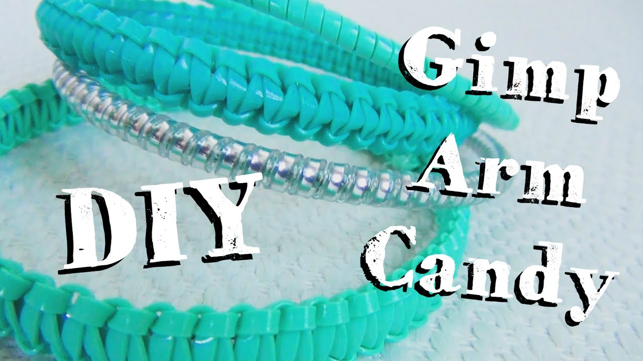 Gimp Arm Candy Diy Bracelets With Boondoggle Plastic Lace Youtube