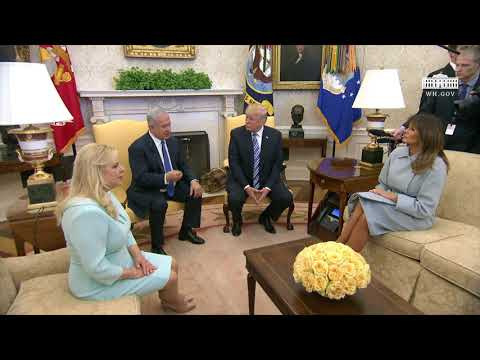 President Trump and The First Lady Meet with Prime Minister Netanyahu and Mrs Netanyahu