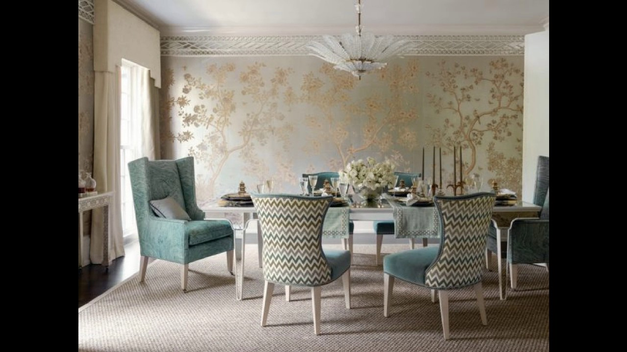 wallpaper ideas for dining room 17 fabulous dining room designs with modern wallpaper youtube 4790