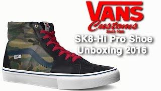 Free Custom Vans SK8 Skate Hi-Pro Shoes (Herschel Little America Woodland Camo Colorway)