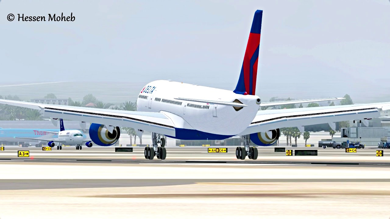 las vegas mccarran landing delta airbus a330 flight simulator rh youtube com Delta Airbus A330 -300 Sunset Next to Delta Airlines A330