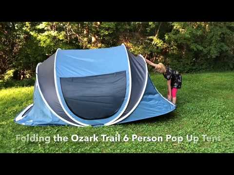 Folding The Ozark Trail 6 Person Pop Up Tent