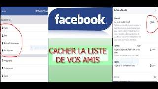 Comment cacher la liste des amis Facebook sur le téléphone ou sur le PC