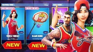 SKINS BASKETBALL, SLAM DUNK AXE, HANG TIME GLIDER! - Fortnite Bataille Royale