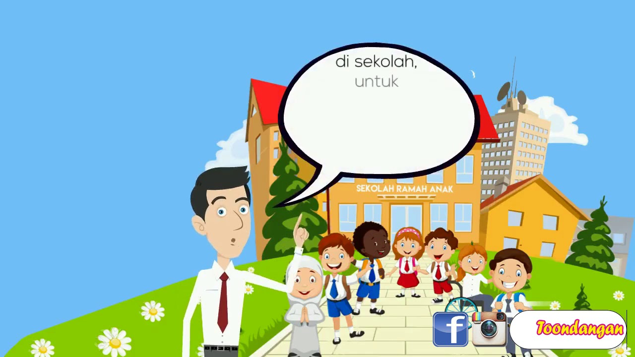 Gambar Kerjasama Di Sekolah Kartun Materi Ppkn Kelas 7 Bab 5 Mewujudkan Kerjasama Dalam Berbagai