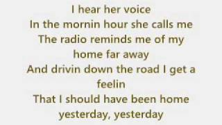 John Denver - Take me home, Country Roads + Text