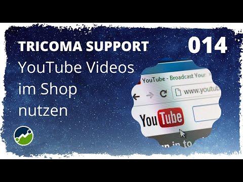 tricoma support #014: Videos mit dem YouTube Connector im Shop nutzen