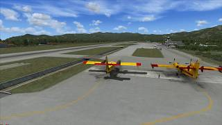 FSX-SE Delivering New Canadair to Samos Island . Greece