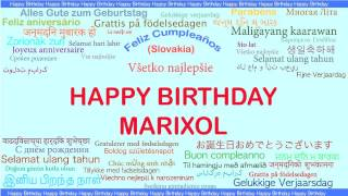 Marixol   Languages Idiomas - Happy Birthday