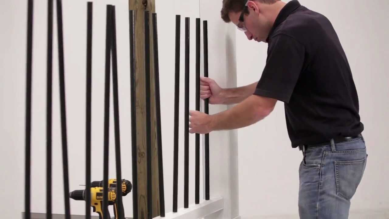 TimberTech RadianceRail® With Metal Balusters Install   YouTube