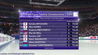 Alina Zagitova World Champs 2019 FS Introducing Judges