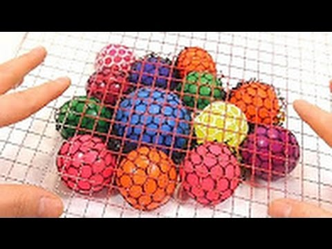 1000 Degree Wire Mesh VS Slime Squishy Ball Learn Colors Slime Clay Icecream