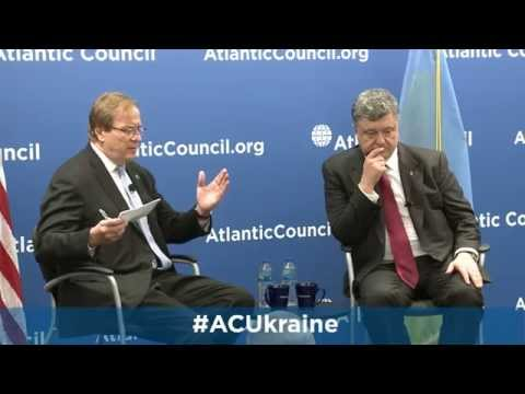 Ukrainian President Petro Poroshenko Speaks at the Atlantic Council