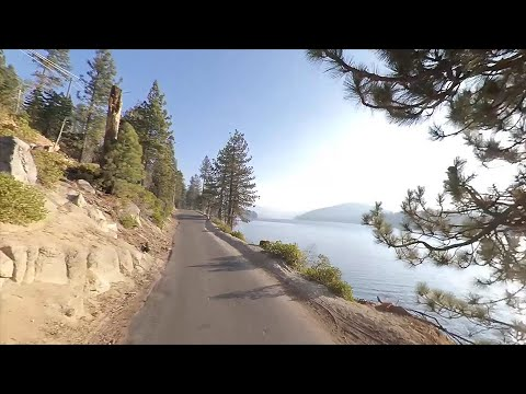 Driving Along Huntington Lake Road