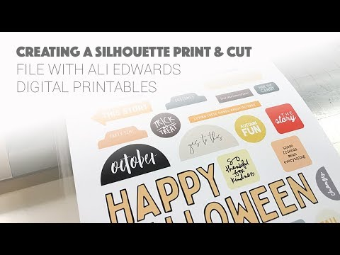 From Digital to Print & Cut + Layout Share | Ali Edwards Oct 2018 Digital Stories By the Month