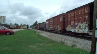 Norfolk Southern mixed freight in Bellevue Ohio 8-16-2016