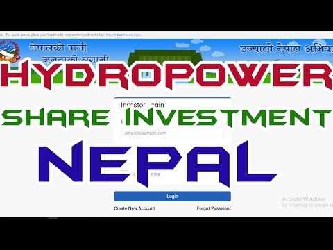 HydroPower/Electricity SHARE Investment in NEPAL | Hydropower in Nepal | Fill Up the FORM