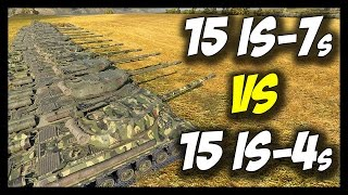 ► World of Tanks: 15 IS-7s vs 15 IS-4s - Face Off #9 - The Best Soviet Heavy Tank!