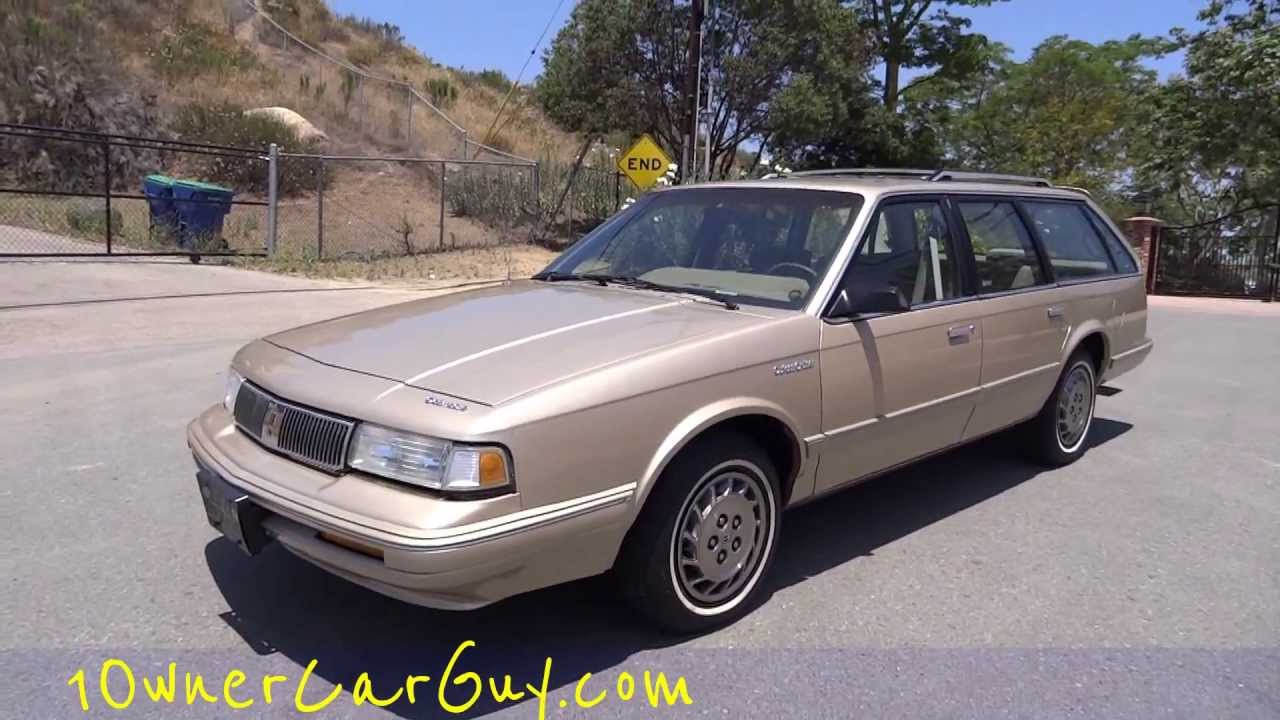 Oldsmobile cutlass ciera cruiser olds station wagon 1994 16k orig miles estate break video review youtube