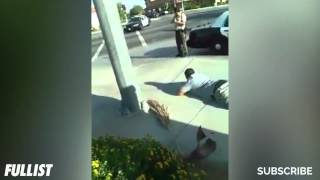 Police Point Gun At Innocent Man And He Refuses To Lie Down