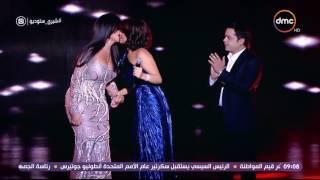 فستان شيرين يضعها في موقف محرج وتطلب من محمد هنيدي إنقاذ الموقف