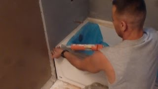 "Tile backer board installation - 60"" bathtub surround walls for Tile installation   Part""1"""
