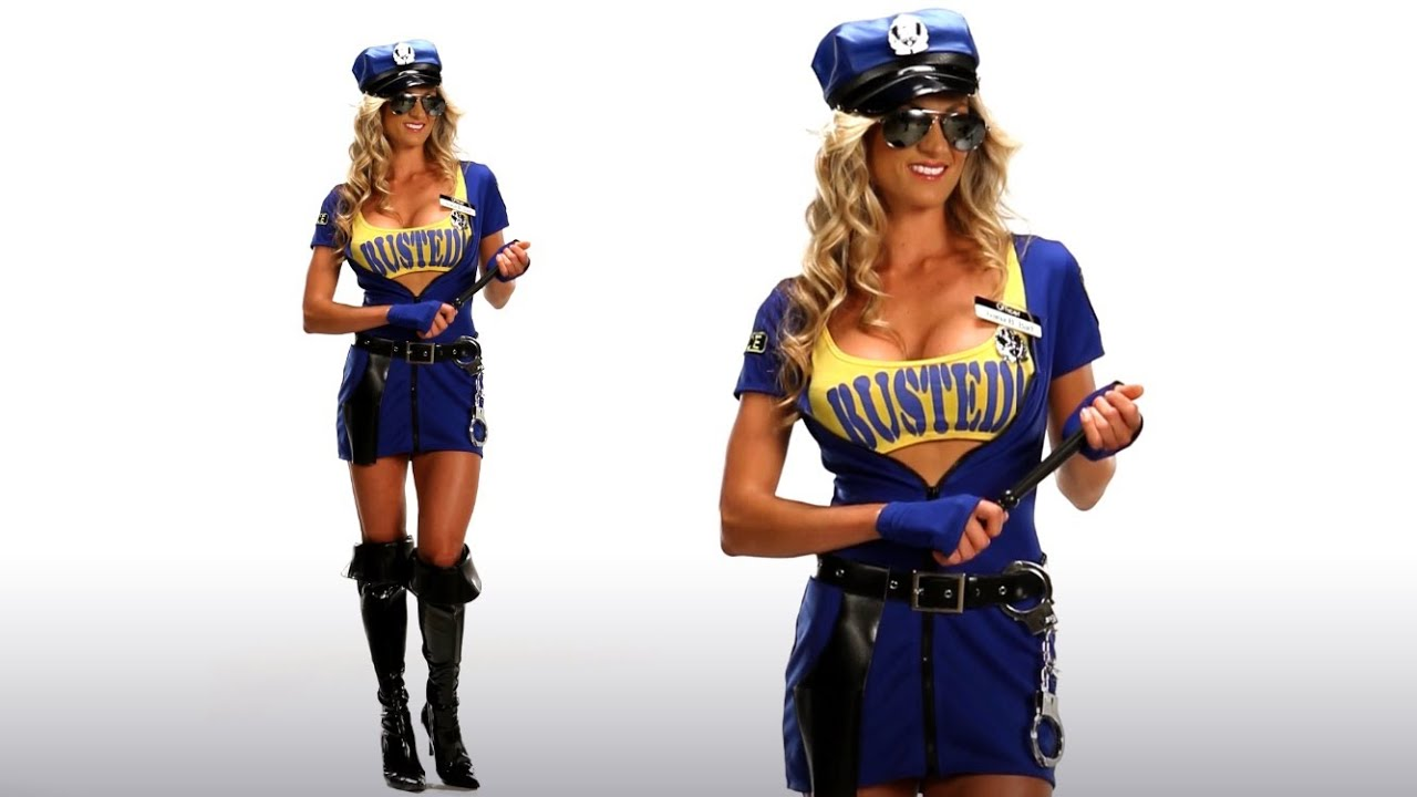Busted Sexy Cop Costume For Halloween