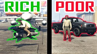 Rich VS Poor Car Guys in GTA Online