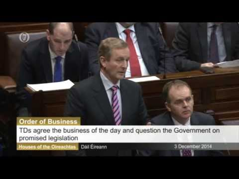 Irish Parliament on Wednesday 3 December 2014