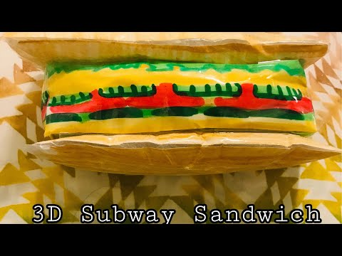 How To Make A 3D SUBWAY SANDWICH PAPER SQUISHY!!!