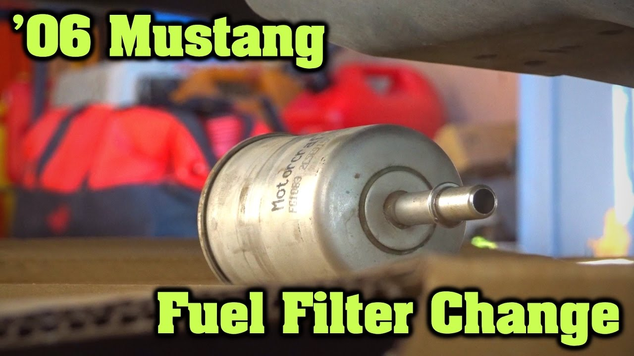 hight resolution of how to change a fuel filter 2006 ford mustang youtubehow to change a fuel filter 2006
