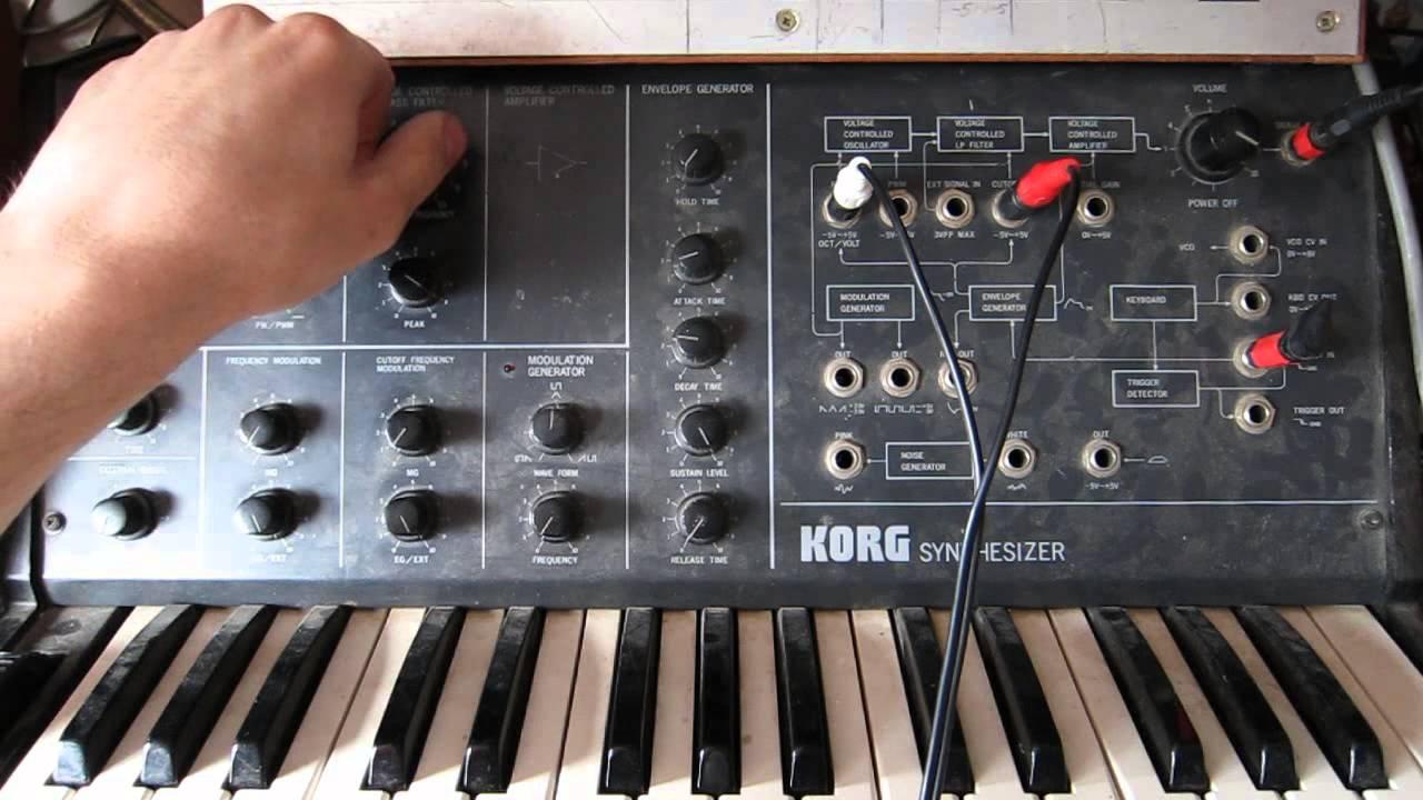 Download Earonator modulates Korg Ms10 - rather evil :)