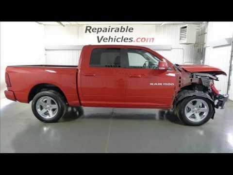 2011 Ram 1500 Sport CrewCab 4×4 Repairables/Rebuildable Stock# 11121438