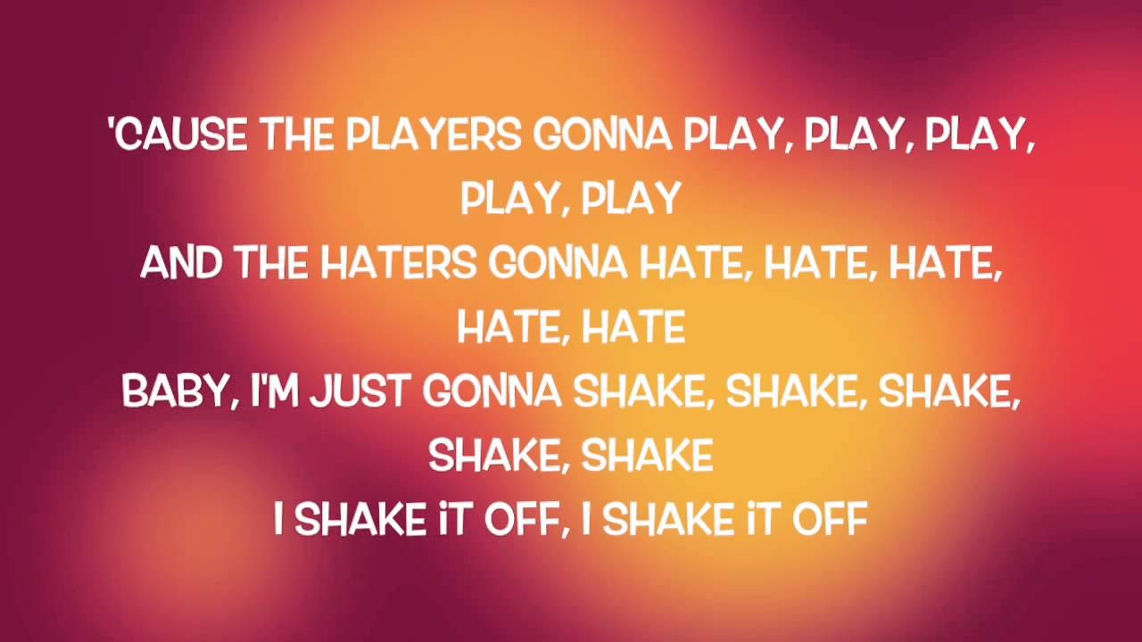 TAYLOR SWIFT - Shake It Off (Lyrics) - YouTube