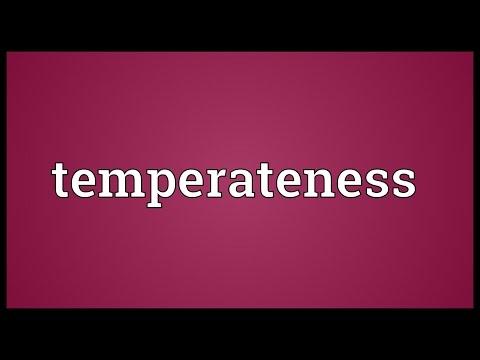 Header of temperateness