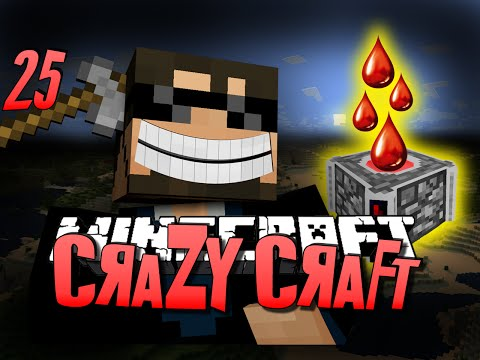 Minecraft CRAZY CRAFT 25 - INFINITE BLOOD (Minecraft Mod Survival)